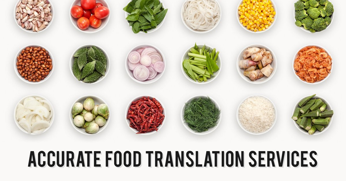 Accurate food translation services