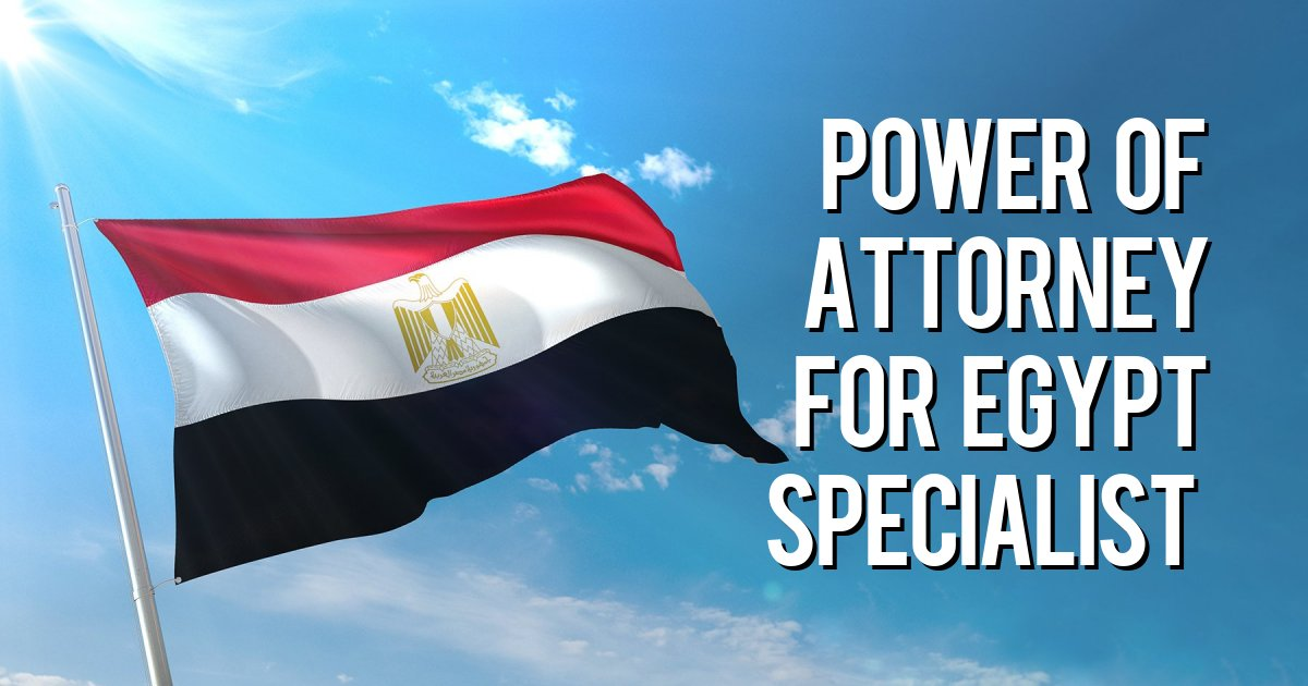 Power of attorney for Egypt specialist